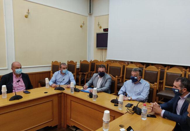 Συνάντηση Τομεάρχη ΣΥΡΙΖΑ Σταύρου Αραχωβίτη με τον Περιφερειάρχη κ. Αρναουτάκη