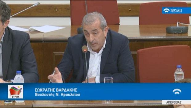 Κατάργηση των περιορισμών για τη λήψη του επιδόματος ανεργίας και την αύξηση των ημερών επιδότησης ζητά με ερώτησή του ο Σωκράτης Βαρδάκης