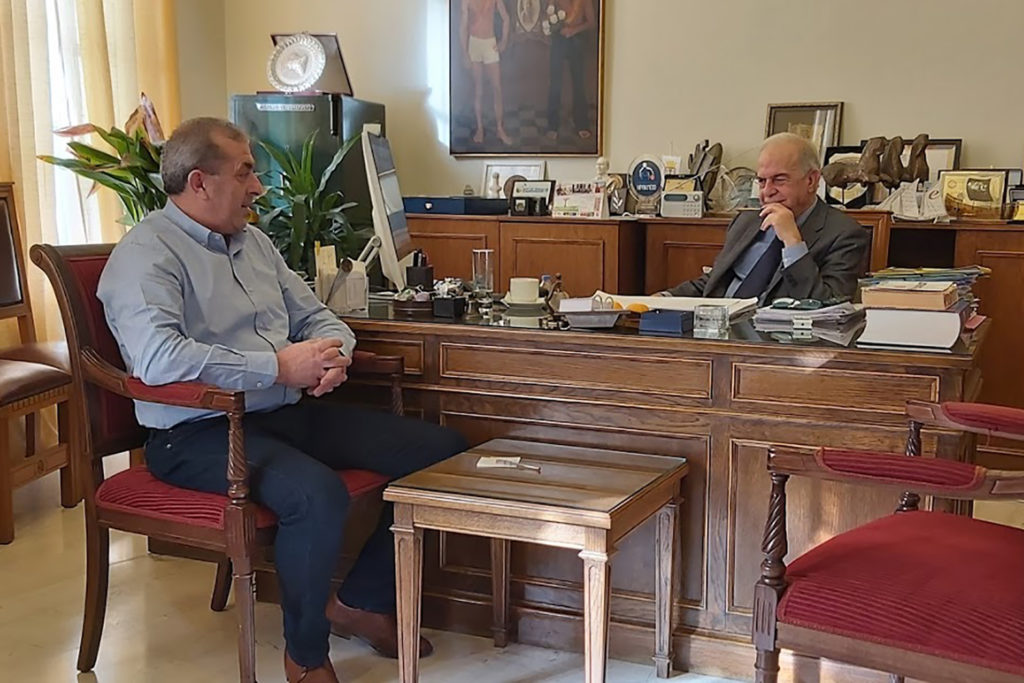 Συνάντηση με τον Δήμαρχο Ηρακλείου κ. Λαμπρινό