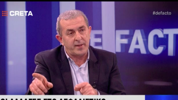 Τηλεοπτική συνέντευξη TV Creta, στην εκπομπή DE FACTO