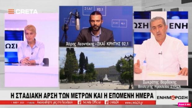Συνέντευξη Σωκράτη Βαρδάκη στο TV Creta για τα μέτρα στήριξης της κοινωνίας κατά την υγειονομική κρίση