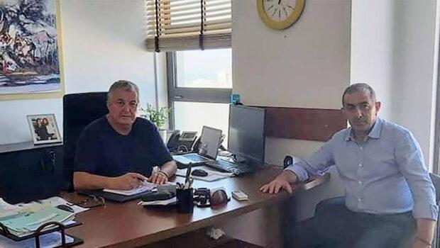 Συνάντηση τον βουλευτή Ηρακλείου του ΣΥΡΙΖΑ – Προοδευτική Συμμαχία Σωκράτη Βαρδάκη, με τον πρόεδρος του  Ε.Σ.Δ.Α.Κ., κ. Ζαχαρίας Καλογεράκης.