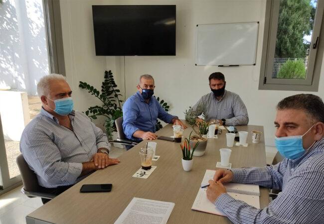 Συνάντηση με τον Δήμαρχο Χερσονήσου με αφορμή τις καταστροφικές πλημμύρες του Οκτωβρίου 2020