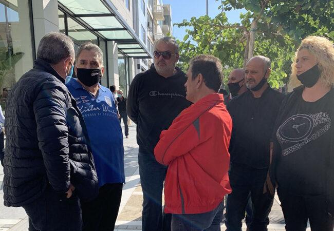 Στα δικαστήρια Ηρακλείου για την εκδίκαση ασφαλιστικών μέτρων των εργαζομένων του Δήμου Ηρακλείου μέσω του κοινωφελούς προγράμματος του ΟΑΕΔ