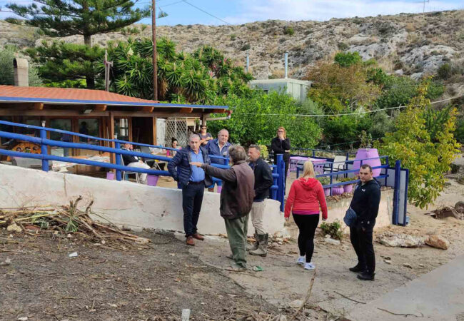 Επίσκεψη στον Καρτερό με αφορμή τις καταστροφικές πλημμύρες του Οκτωβρίου 2020