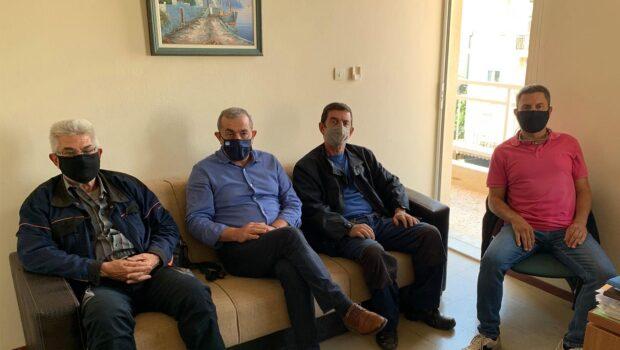 Συνάντηση Σωκράτη Βαρδάκη με τα μέλη του Δ.Σ. του Σωματείου εργαζομένων Δ.Ε.Υ.Α. Ηρακλείου