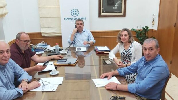 Συνάντηση του Περιφερειάρχη Κρήτης με τον Βουλευτή Ηρακλείου Σωκράτη Βαρδάκη