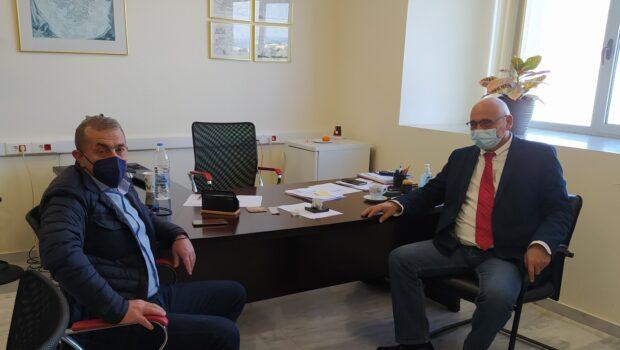 Συνάντηση Σωκράτη Βαρδάκη με τους κ.κ. Γιώργου Κοντάκη και Μιχάλη Παυλίδη, Πρύτανη και Αντιπρύτανη του Πανεπιστημίου Κρήτης