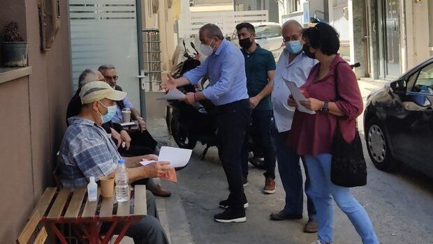 Περιοδεία ενημέρωσης πολιτών, πραγματοποίησε κλιμάκιο της Νομαρχιακής Επιτροπής Ηρακλείου του ΣΥΡΙΖΑ – Προοδευτική Συμμαχία, ο Σωκράτης Βαρδάκης, καθώς και μέλη της Οργάνωσης Ανατολικών Συνοικιών.
