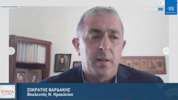 Ο Σωκράτης Βαρδάκης μιλά στο Κρήτη TV για το εργασιακό νομοσχέδιο