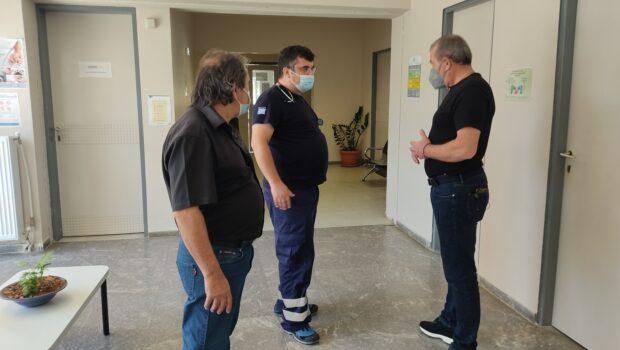 Επίσκεψη Σωκράτη Βαρδάκη στο Κέντρο Υγείας (Κ.Υ.) Αγίας Βαρβάρας