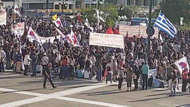 Συγκέντρωση στην Πλατεία Συντάγματος ενάντια στο εργατοκτόνο νομοσχέδιο