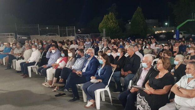 Στην εκδήλωση προς τιμήν του σπουδαίου ευεργέτη Κώστα Μαλιώτη, στις Μελέσες, ο Σωκράτης Βαρδάκης.