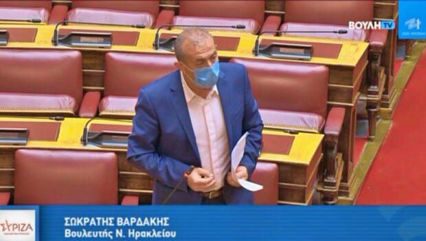 """Σωκράτης Βαρδάκης: """"Κύριε Υπουργέ σταματήστε να εξυπηρετείτε συμφέροντα και σκοπιμότητες εις βάρος των εργαζομένων και ξεκινήστε να αφουγκράζεστε επιτέλους την αγωνία τους"""""""