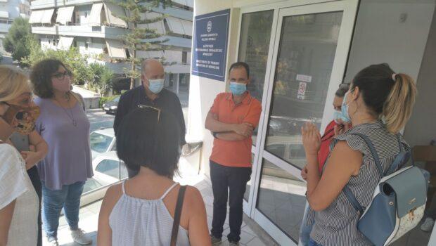 Κινητοποίηση των Συλλόγων Εκπαιδευτικών Π.Ε. «Δ. Θεοτοκόπουλος», και «Φαιστός», στην #Πρωτοβάθμια Διεύθυνση Ηρακλείου