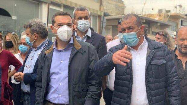 Με τον Πρόεδρο του ΣΥΡΙΖΑ – Προοδευτική Συμμαχία Αλέξη Τσίπρα, επισκεφθήκαμε τις πληγείσες περιοχές από τον σεισμό της 27ης Σεπτεμβρίου.